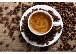 721198,食物,咖啡,杯子,咖啡,豆子,壁纸