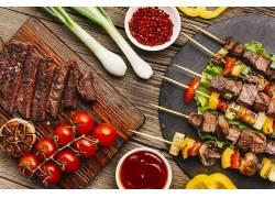 1035020,食物,烧烤,肉,番茄,蕃茄酱,仍然,生活,壁纸