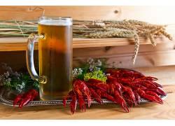 914565,食物,啤酒,玻璃,酒精,喝酒,海鲜,甲壳纲的,壁纸