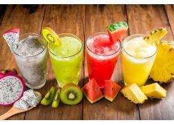 769420,食物,果汁,喝酒,水果,猕猴桃,西瓜,菠萝,玻璃,火龙果,壁纸