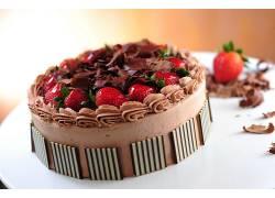 744456,食物,蛋糕,巧克力,草莓,奶油,壁纸