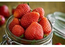 758154,食物,草莓,水果,浆果,水果,冲突,壁纸