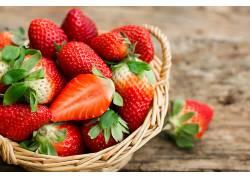 764696,食物,草莓,水果,浆果,水果,篮子,壁纸