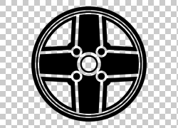 轮辋车合金轮自行车车轮,轮胎PNG剪贴画标志,自行车,单色,汽车,封