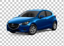马自达Demio Car Mazda3 SkyActiv,马自达PNG剪贴画紧凑型轿车,蓝