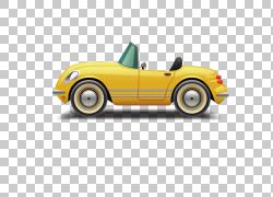 跑车侧PNG剪贴画敞篷车,老式汽车,敞篷跑车,汽车,卡通,车辆,封装P