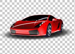 跑车兰博基尼Gallardo,红色兰博基尼PNG剪贴画汽车,性能汽车,卡通