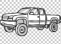 皮卡车Car Tire,创意手绘皮卡PNG剪贴画水彩绘画,紧凑型汽车,彩绘