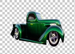 皮卡车热棒,皮卡车涂PNG剪贴画水彩画,画,手,老式汽车,卡车,皮卡,