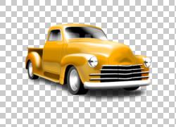 皮卡车经典车,经典的PNG剪贴画紧凑型轿车,老式汽车,卡车,汽车,车