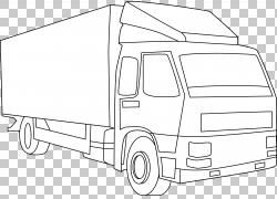 皮卡车艺术,卡车轮廓PNG剪贴画紧凑型轿车,角钢,卡车,运输方式,卡