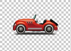 跑车汽车设计,敞篷跑车,经典红色敞篷轿跑车PNG剪贴画紧凑型汽车,