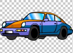 跑车汽车设计,蓝橙色经典车PNG剪贴画紧凑型汽车,蓝色,轿车,橙色,