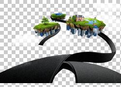 汽车岛,浮岛PNG剪贴画漂浮,城市,岛屿,漂浮花瓣,电脑壁纸,封装的P