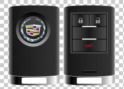 汽车凯迪拉克CT6钥匙锁,手绘凯迪拉克车钥匙PNG剪贴画水彩画,电子