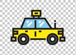 汽车出租车可伸缩图形图标,出租车PNG剪贴画卡通,运输,封装PostSc