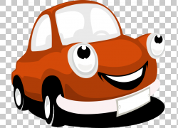 汽车,卡通汽车引擎PNG剪贴画紧凑型车,橙色,汽车,免版税,车辆,停