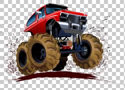 汽车怪物卡车插图,越野四轮驱动PNG剪贴画驾驶,卡车,赛车,越野车,