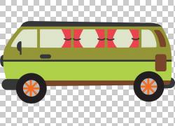 汽车卡车巴士运输,卡通绿色巴士PNG剪贴画卡通人物,简单,卡车,自