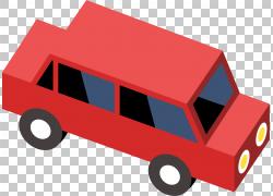 汽车卡车玩具,手绘红色汽车卡车PNG剪贴画水彩画,角度,简单,手,卡