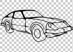 汽车绘图,修改PNG剪贴画紧凑型汽车,白色,汽车,运输方式,车辆,运