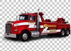 汽车Naperville经典拖车拖车半挂车,经典老箱子PNG剪贴画货运,卡