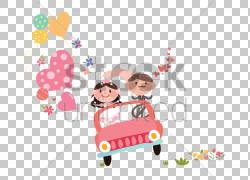 汽车绘图动画,情侣车PNG剪贴画文本,心,蹒跚学步,汽车,虚构人物,