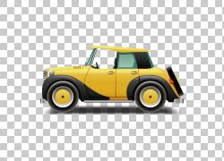 汽车MINI Cooper欧几里德,黄色经典汽车PNG剪贴画紧凑型汽车,汽车