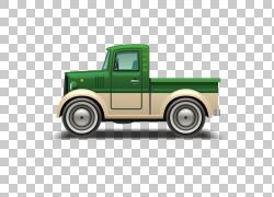 汽车范皮卡车,绿色卡车PNG剪贴画紧凑型车,老式汽车,卡车,生日快