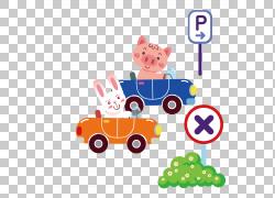 汽车计算机文件,驾驶兔子和小猪PNG剪贴画驾驶,海报,兔子耳朵,汽