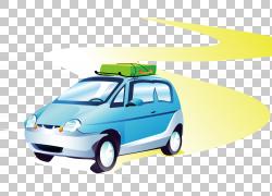 旅行公路旅行,卡通车PNG剪贴画紧凑型汽车,汽车,运输方式,手提箱,