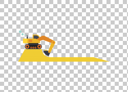 黄色挖掘机Vecteur,平铲车PNG剪贴画汽车事故,角度,文本,技术,橙