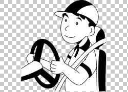黑白单色摄影,各种汽车PNG剪贴画杂,白,脸上,帽子,驾驶,手,摄影,