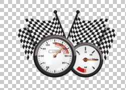 黑白赛跑旗子,车速表和tacometer illustratin PNG clipartcdr,其图片