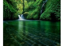 97051,地球,瀑布,瀑布,山,壁纸图片