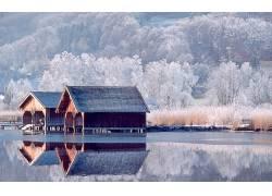 117092,地球,风景,冬天的,湖,壁纸图片