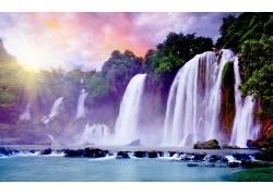117309,地球,瀑布,瀑布,壁纸图片