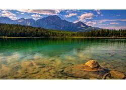 84028,地球,湖,湖,水,山,云,壁纸