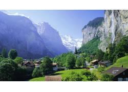 84034,地球,山,山脉,城镇,壁纸图片