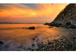 84183,地球,海滩,日落,水,壁纸