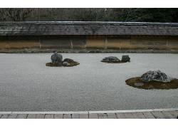 12933,地球,岩石,日本的,花园,壁纸图片