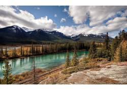 75027,地球,风景,Alsek,河,阿拉斯加,河,山,壁纸图片