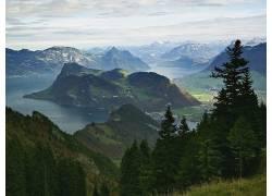 13229,地球,山,山脉,风景,河,壁纸