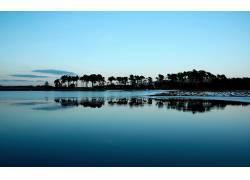 84512,地球,反射,水,树,天空,岛,风景,湖,风景优美的,壁纸图片