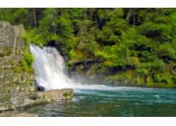 13748,地球,Abrams,瀑布,瀑布,瀑布,河,壁纸