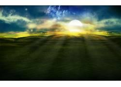 84603,地球,艺术的,草,太阳,壁纸图片