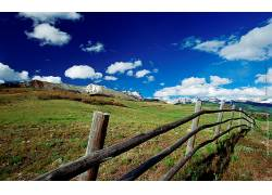 14676,地球,领域,栅栏,风景,山,壁纸图片