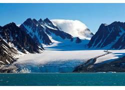 56870,地球,冬天的,山,水,壁纸