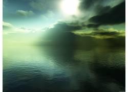 17597,地球,海洋,海景画,太阳,壁纸