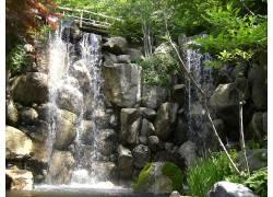 18014,地球,瀑布,瀑布,桥梁,壁纸图片